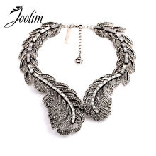 2015 Vintage Crystal Leaves Statement  Necklace Collar Bib Party Min $20(can mix)