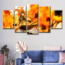 5 Pieces Fairy Tail Canvas Painting Cuadros Decoracion Dormitorio Posters And Prints Living Room Tableau Mural Drop Shipping