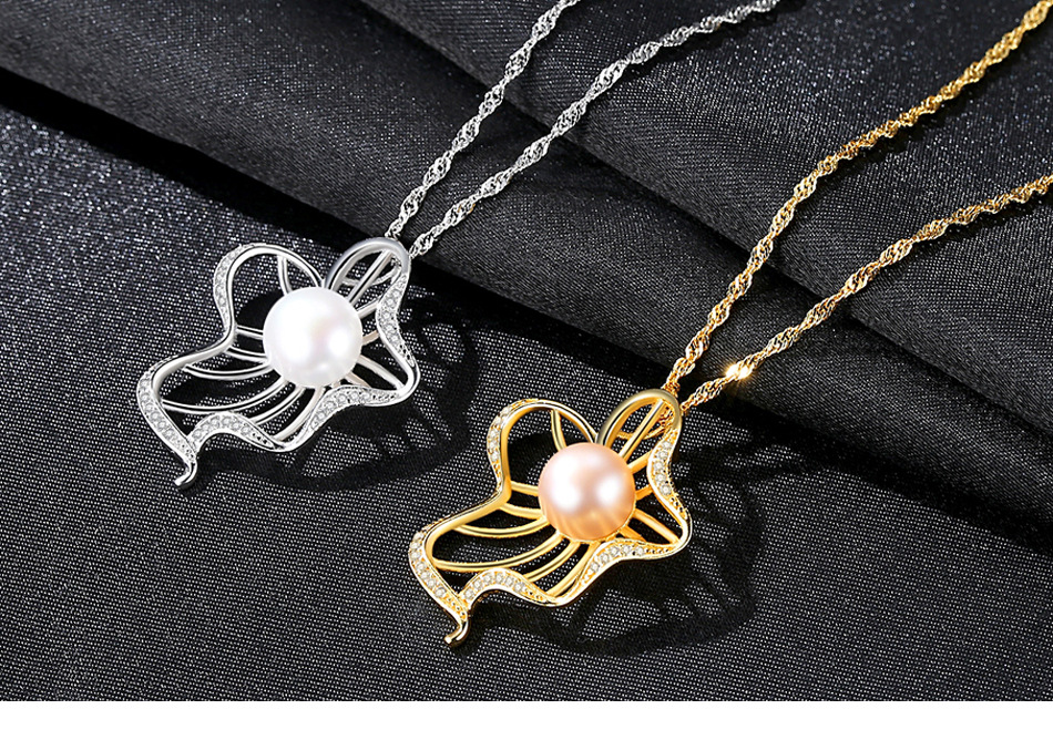 S925 sterling silver necklace natural freshwater pearl pendant jewelry fashion women s accessories DS15