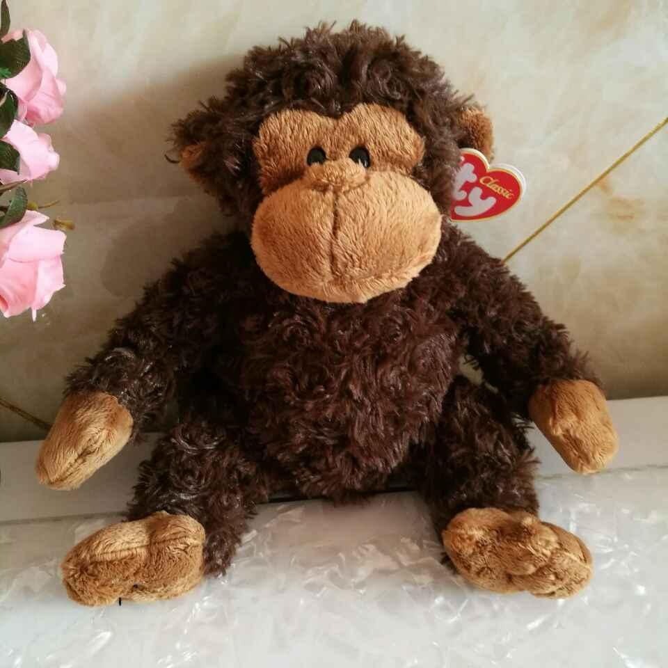 Бангл обезьяна ty Классические 1 шт. 25 см большие глаза Плюшевые Игрушечные лошадки мягкие детские игрушки Nano куклы детские игрушки