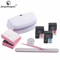 Fengshangmei One Step Gel Lacquer Nail Polish Manicure and Pedicure Kits With Lamp