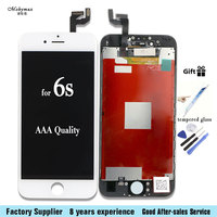 Mobymax LCD Display For IPhone 6s Touch Screen Assembly Replacement Pantalla In Black White All Test