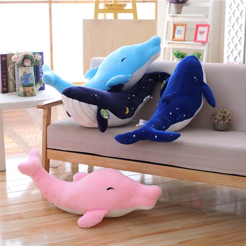 Плюшевые игрушки с изображением Кита, мягкие игрушки серии Sky, мягкие игрушки для морских животных, 80 см, плюшевые игрушки для детей, подарок