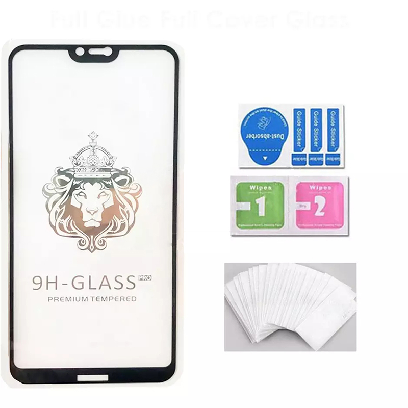 100PCS 9H Tempered Glass Film Fast Fit Full Glue Full Cover Screen Protector For iPhone 6
