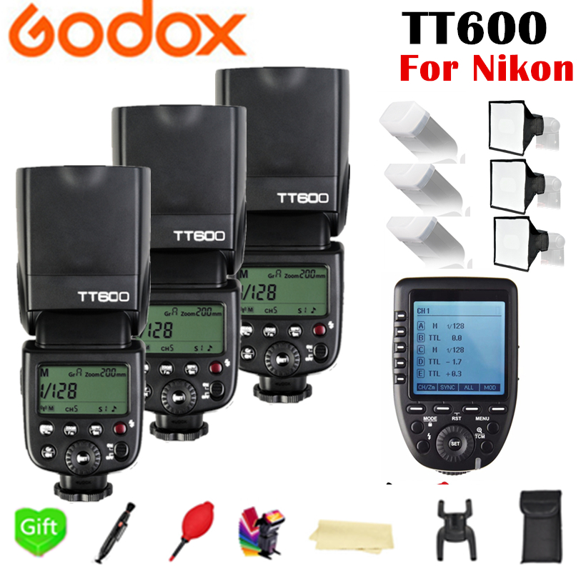 Godox TT600 GN60 2.4G Wireless TTL HSS Flash Speedlite + X1T-N Xpro-N Trigger For Nikon D3200 D3300 D5300 D7200 D750 D90 Camera