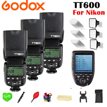 лучшая цена Godox TT600 GN60 2.4G Wireless TTL HSS Flash Speedlite + X1T-N Xpro-N Trigger for Nikon D3200 D3300 D5300 D7200 D750 D90 Camera