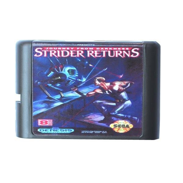 Sega MD game card – Strider Returns for 16 bit Sega MD game Cartridge Megadrive Genesis system