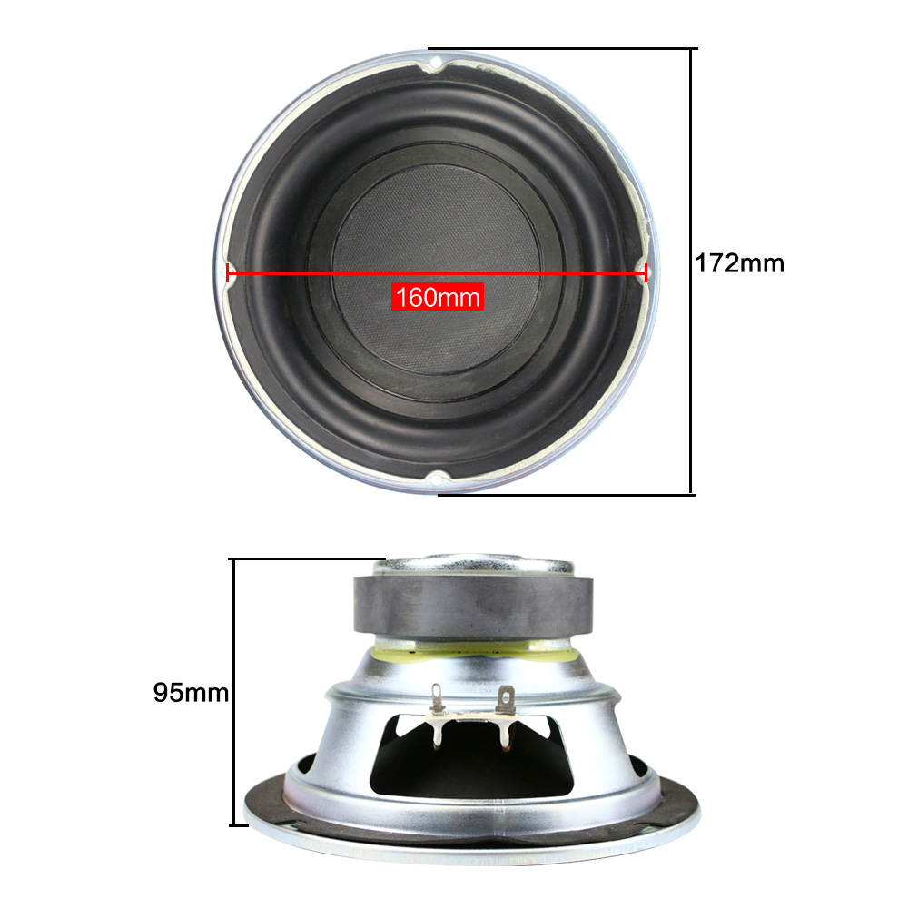 Image 3 - Ghxamp 6.5 inch Subwoofer Speaker 4ohm 100W Woofer LoudSpeaker 