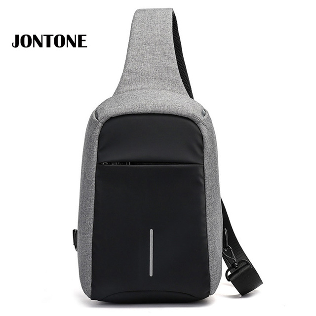 d4884342013c Anti Theft Backpack Men Plecaki Chest Bag Men s Crossbody Bags Small  Waterproof Oxford Functional Sling Pack Casual Men Daypack