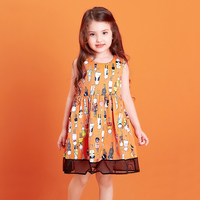 2017 Baby Girls Lots Of Bunny Dress Cartoon Rabbit Cute Adorable Clothes Kids Summer Fashion Easter