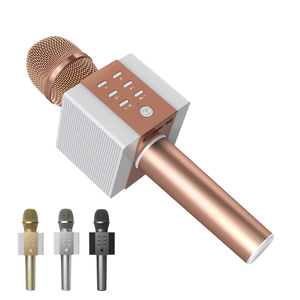 Image 1 - المهنية بلوتوث اللاسلكية ميكروفون ميكروفون الكاريوكي المتكلم الموسيقى المحمولة لاعب MIC الغناء مسجل KTV ميكروفون