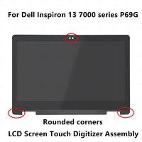 Полная панель ЖК дисплея ''13,3 Touch стекло планшета экран сборки + рамка для Dell Inspiron 13 7000 серия 7378 7368 P69G ips FHD
