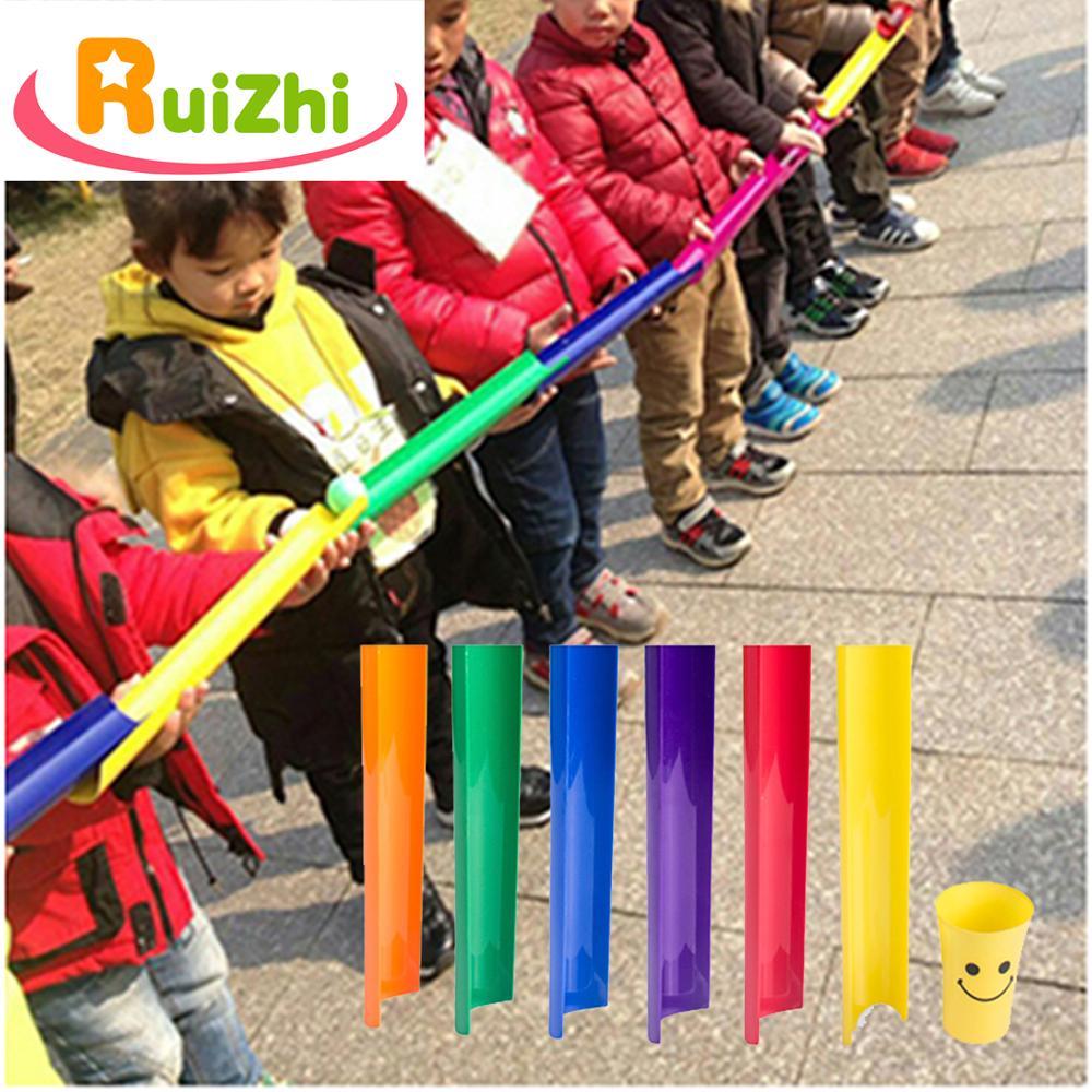 Ruizhi u-canal transmitir bolas crianças jogos de trabalho em equipe escolas atividades ao ar livre jogos divertidos crianças brinquedo jogo de bola adereços rz1029
