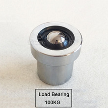 2PCS Damping ball bearing steel universal ball built-in spring cattle eye ball spring damping pulley load bearing 100KG JF1491 load bearing glasses