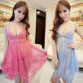 Ladies Sexy Silk Satin Night Dress Sleeveless Nighties V-neck Nightgown Summer Nightdress Lace Sleepwear Nightwear For Women