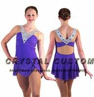 Синий Фигурное катание Платья для женщин для Для женщин новые модные брендовые Катание на коньках Платья для женщин для конкурса dr3448