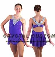 Blue Figure Skating Dresses For Women Fashion New Brand Ice Skating Dresses For Competition DR3448