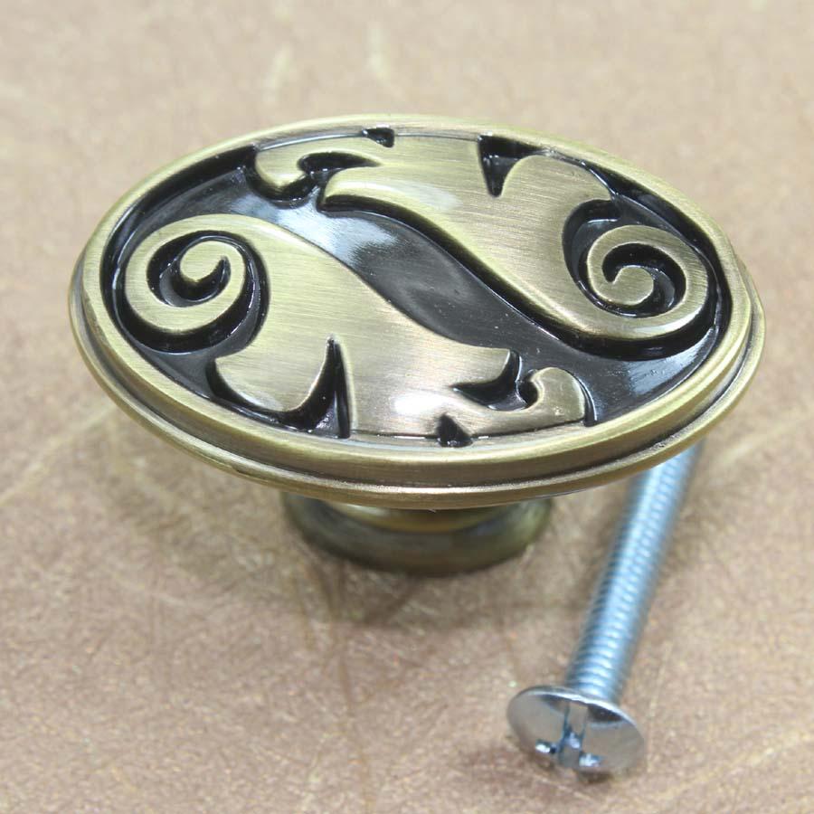 Door knobs brushed antique bronze - Dresser Pull Bronze Drawer Knob Brushed Antique Brass Cupboard Kitchen Cabinet Door Pull Vintage Furniturte Door
