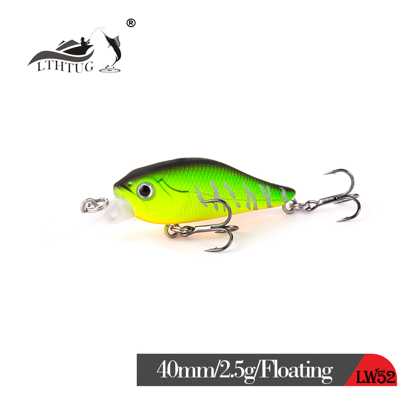LTHTUG Japanese Design Pesca Stream Fishing Lure 40mm 2.5g Floating Minnow Crank Isca Artificial Baits For Bass Perch Pike Trout