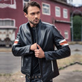 2017 Men Black Genuine Leather Motorcycle Jacket Stand Collar Real Thick Cowhide Slim Fit Winter Short Biker Coat FREE SHIPPING