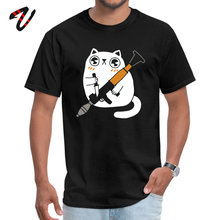 Cuddly Combat Cat Design T Shirts for Men Peaky Blinder April FOOL DAY T Shirt Tops Shirts Uchiha Sleeve Prevailing Crew Neck funny the it peanuts summer t shirt o neck peaky blinder men tshirt tops shirts initial d ostern day t shirt free shipping