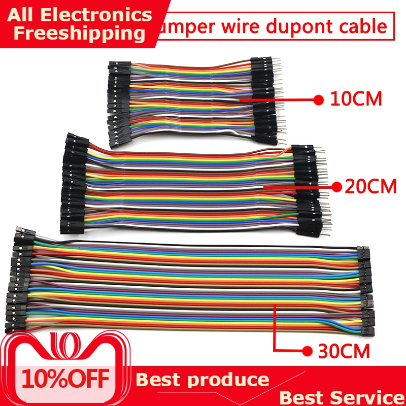 Dupont Line 10cm/20CM/30CM Male To Female Jumper Wire Cable