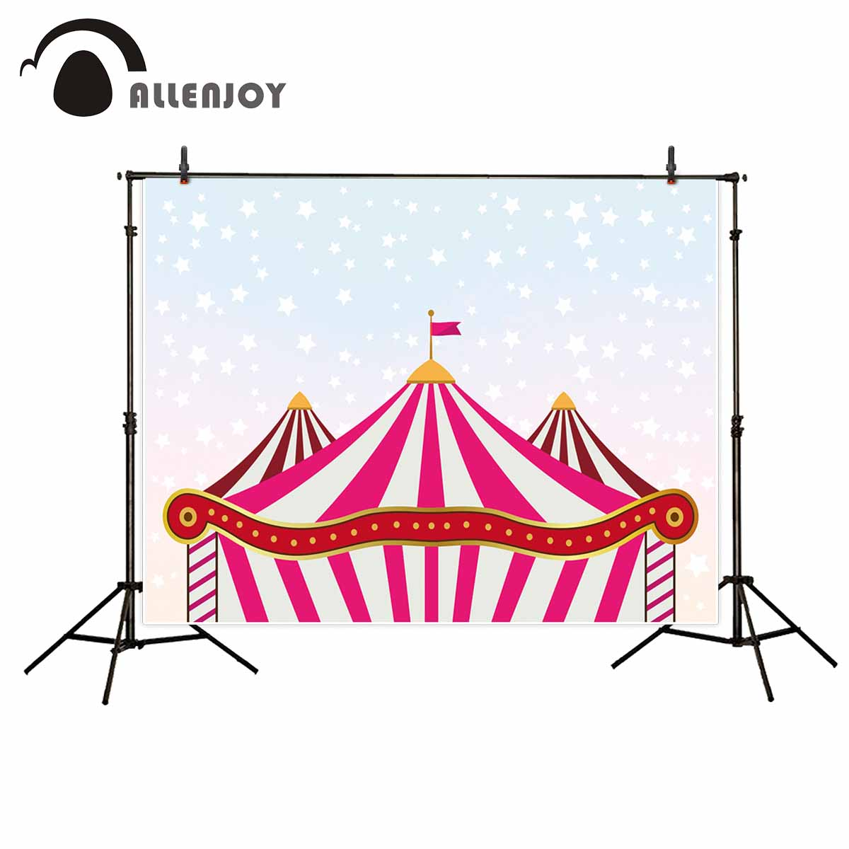 Allenjoy photo background Circus Stars Children's party background background for photo fund photo studio backdrop photo