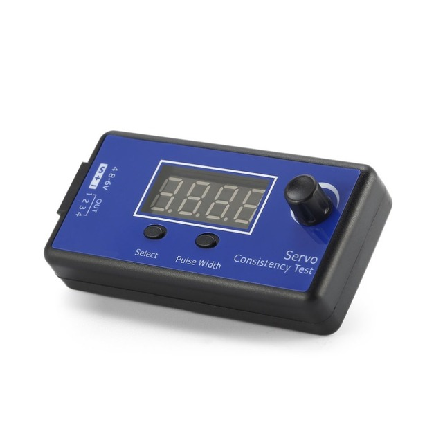 DC 4.8-6V Mini 3 Modes Digital Servo/ESC Consistency Tester Steering Gear Measurement for RC Helicopter Airplane Car Tool