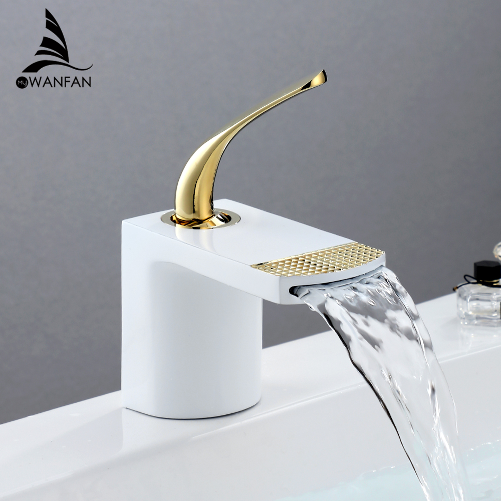 Basin Faucets Elegant Bathroom Faucet Hot and Cold Water Basin Mixer Tap Chrome Finish Brass Toilet Sink Water Crane Gold 855025|Basin Faucets|   - AliExpress