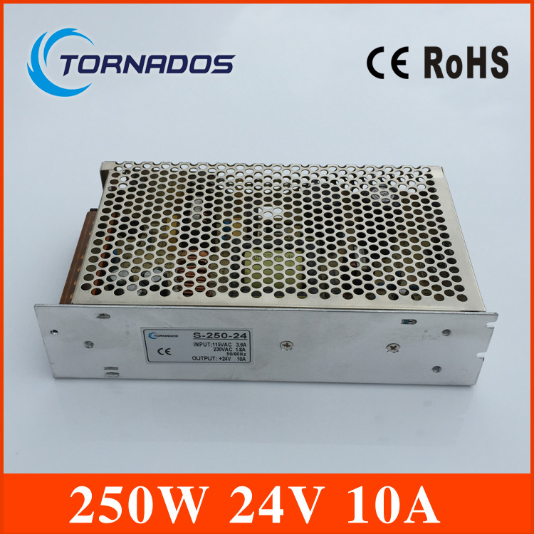 Best quality 24V 10A 240W Switching Power Supply Driver for LED Strip AC 100-240V Input to DC 24V free shipping best quality 5v 45a 250w switching power supply driver for led strip ac 100 240v input to dc 5v free shipping