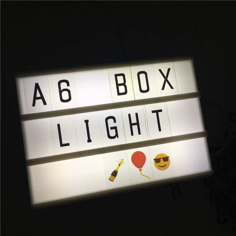 Leedome A6 Night Lamp Cinematic Light Box 3 Line Power By AA Battery Or USB Cable LED Cinema Lightbox For Wedding Decor Lights