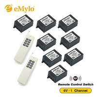 DC 6V One Transmitter 8X 1 Channel Relays Learning Smart Wireless Remote Control Switch White Long