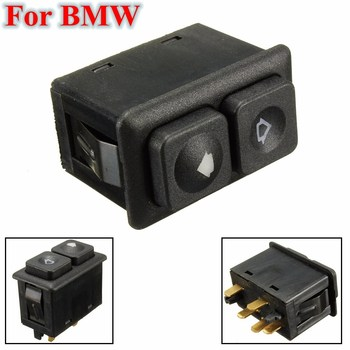 61311381205 Black 5 Pin Illuminated Power Window Switch Front Left Side For BMW E23 E24 E28 E30 BW102 613 113 812 05 image
