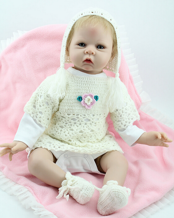 50cm Silicone Reborn Baby Doll Toy Soft Vinyl Lifelike Girl Brinquedos Gift for Children Interesting & Education Lovely Princess lifelike american 18 inches girl doll prices toy for children vinyl princess doll toys girl newest design
