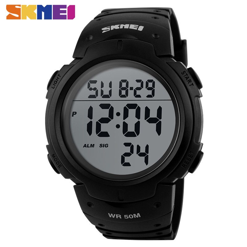 SKMEI Brand Mens Sports Watches Dive 50m Digital LED Military Watch Men Fashion Casual Electronics Wristwatches