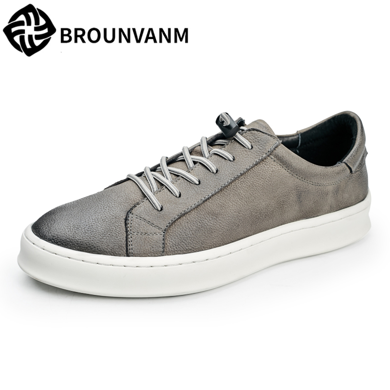 spring autumn summer men's Casual shoes British all-match cowhide breathable sneaker fashion Leisure Genuine Leather shoes men men casual shoes cowhide soft bottom spring and summer doug shoes breathable leisure fashion british driving leather shoes