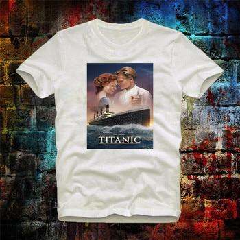 Plakat filmowy Titanic Leonard Di Caprio Retro fajny Unisex? Koszulka damska 176b koszulka z nadrukiem w stylu Vintage