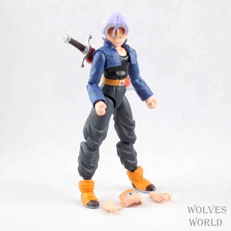 Dragon Ball Z Anime Joint Movable Son Gohan Piccolo Vegeta Son Goku Trunks Ação PVC Figura Dos Desenhos Animados Brinquedos Colecionáveis 6 pçs/set