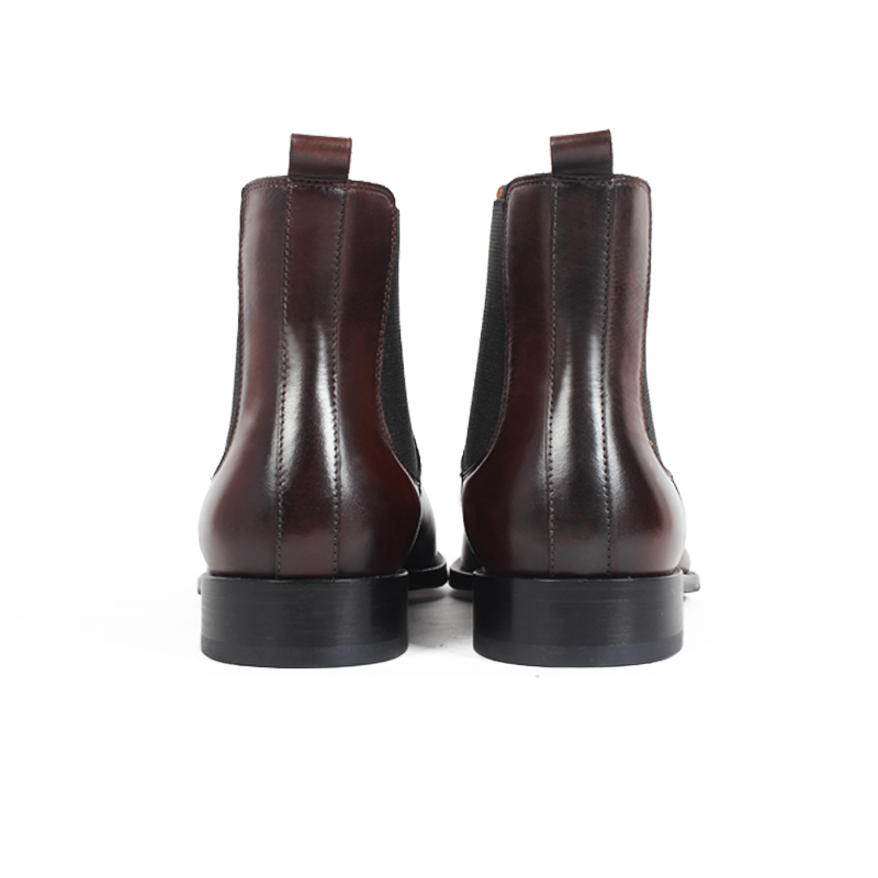 Vikeduo Brand Handmade Chelsea Boots 2019 Men's Genuine Leather Shoes Solid Male Vintage Boot Ankle Party Office Brown Sapatos