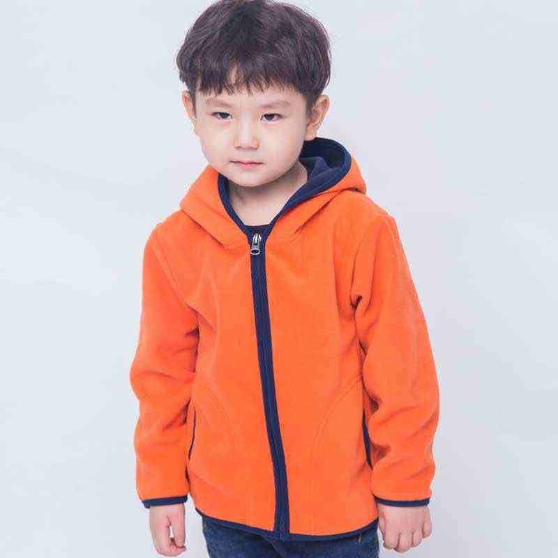 סתיו חורף ילדים חולצות בנים חיצוני Zip קפוצ 'ון מעילי תינוק בנות בגדי ילדי פליס ארוך שרוול מעיל מעילים