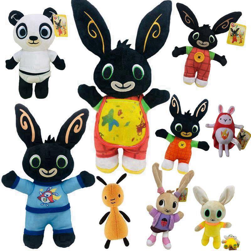 18-36cm Cartoon Bing Bunny Rabbit Plush Toy, Fnaf Bing Friends Flop Sula Elephant Panda Bear Stuffed Animal Plush Doll For Girls