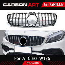 New arrival W176 GT front grille for mercedes w176 A class A180 A200 A260 A45 auto tuning parts 2016-2018