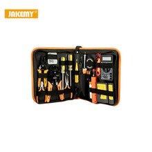 JAKEMY 17 в 1 Электронный обслуживания Инструменты комплект Цифровой мультиметр ремонт Инструменты комплект сети ремонт Интимные аксессуары