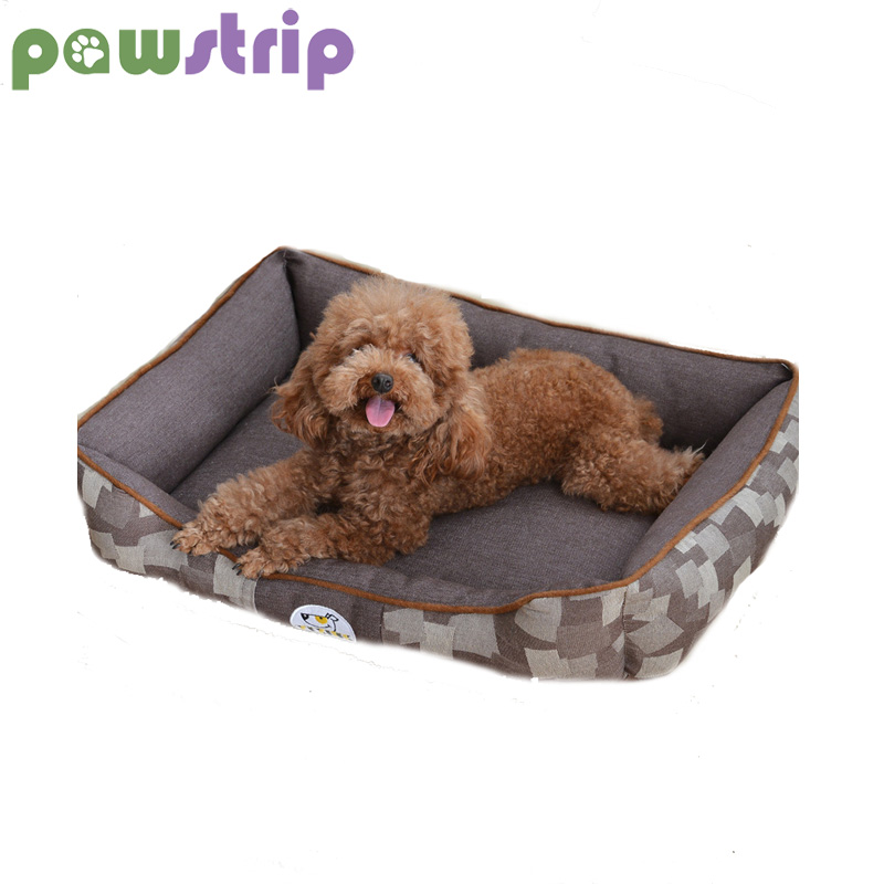 pawstrip 2 Size Pet Dog Beds Winter Puppy Cushion Waterproof Cat Bed Jean Detachable Wash Pet Bed For Small Medium Dogs