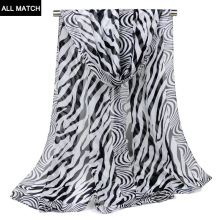 2017 Limited Direct Selling Scarf Korean Women's Classic All-match Zebra Chiffon Scarf Shawl Scarves Leopard Dress And Thin