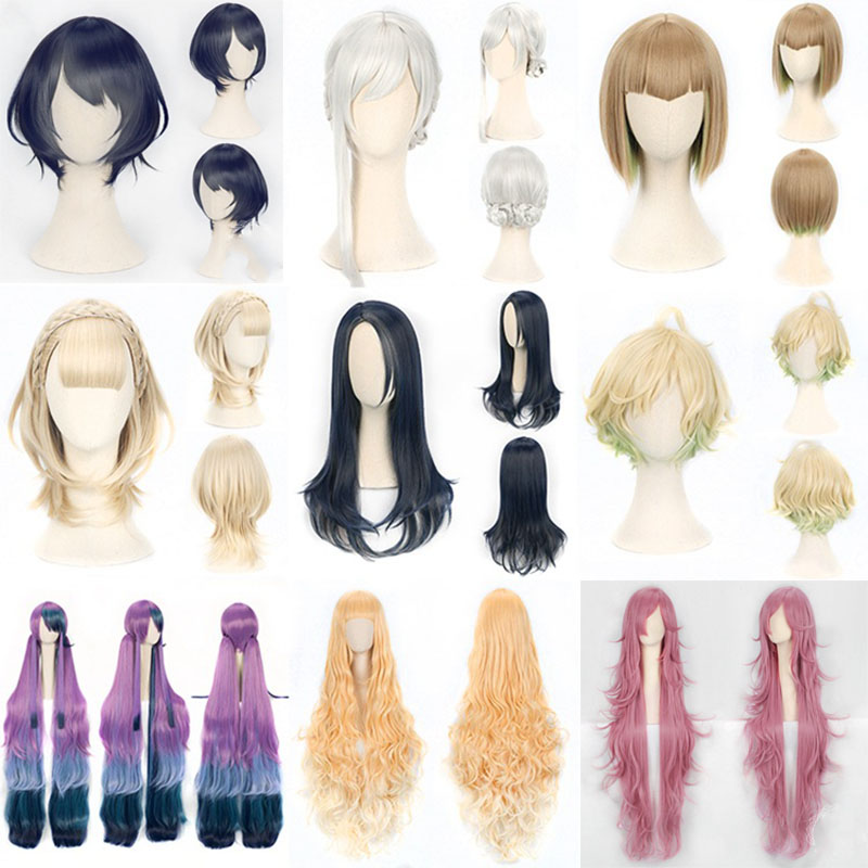 Sinoalice Cosplay Wig Alice Snow White Silver Braids Hair Buns Costumes & Accessories