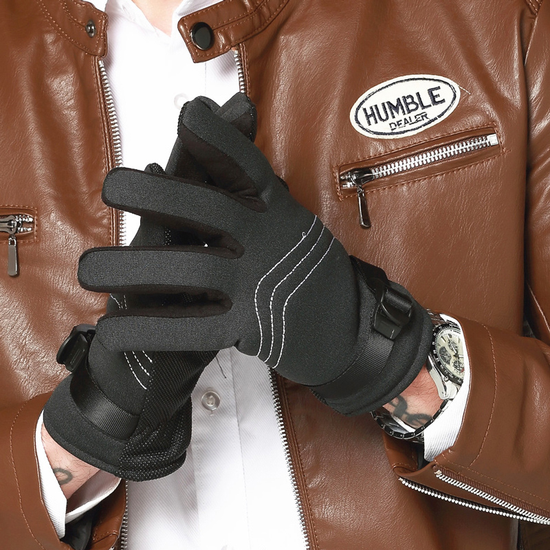 Male Gloves with Warm Winter Outdoor Sports Ski Driving Gloves Motorcycle Riding Cashmer ...