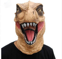 Scary T Rex Mask Halloween Realistic Jurassic World Dinosaur Mask Adults Animal Cosplay Costume Party Mask Supplies