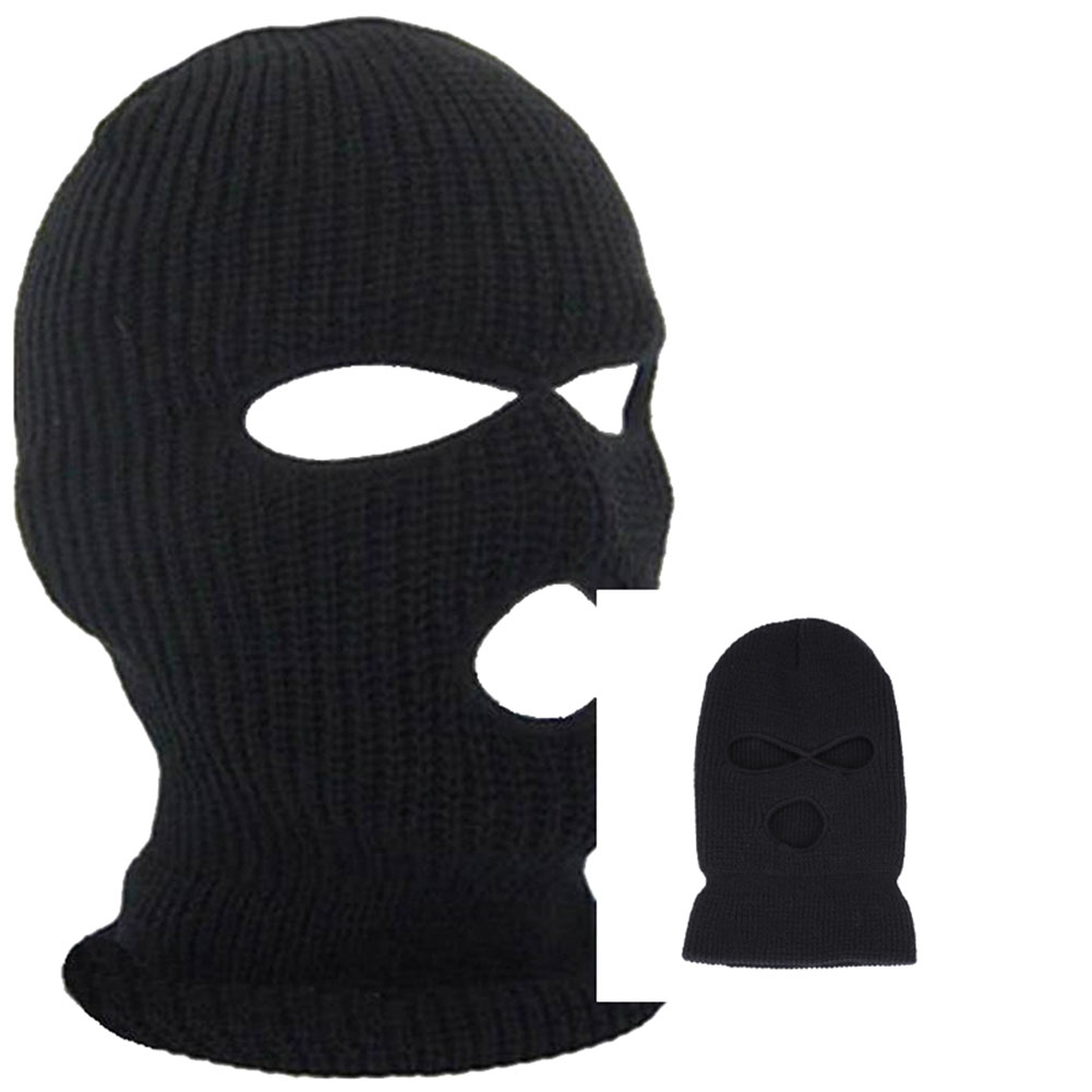 dropshipping Outdoor Balaclavas Full Face Cover Mask Robber Cool Knitted   Beanies   for Men Head Neck Balaclava Cycling Bike Caps