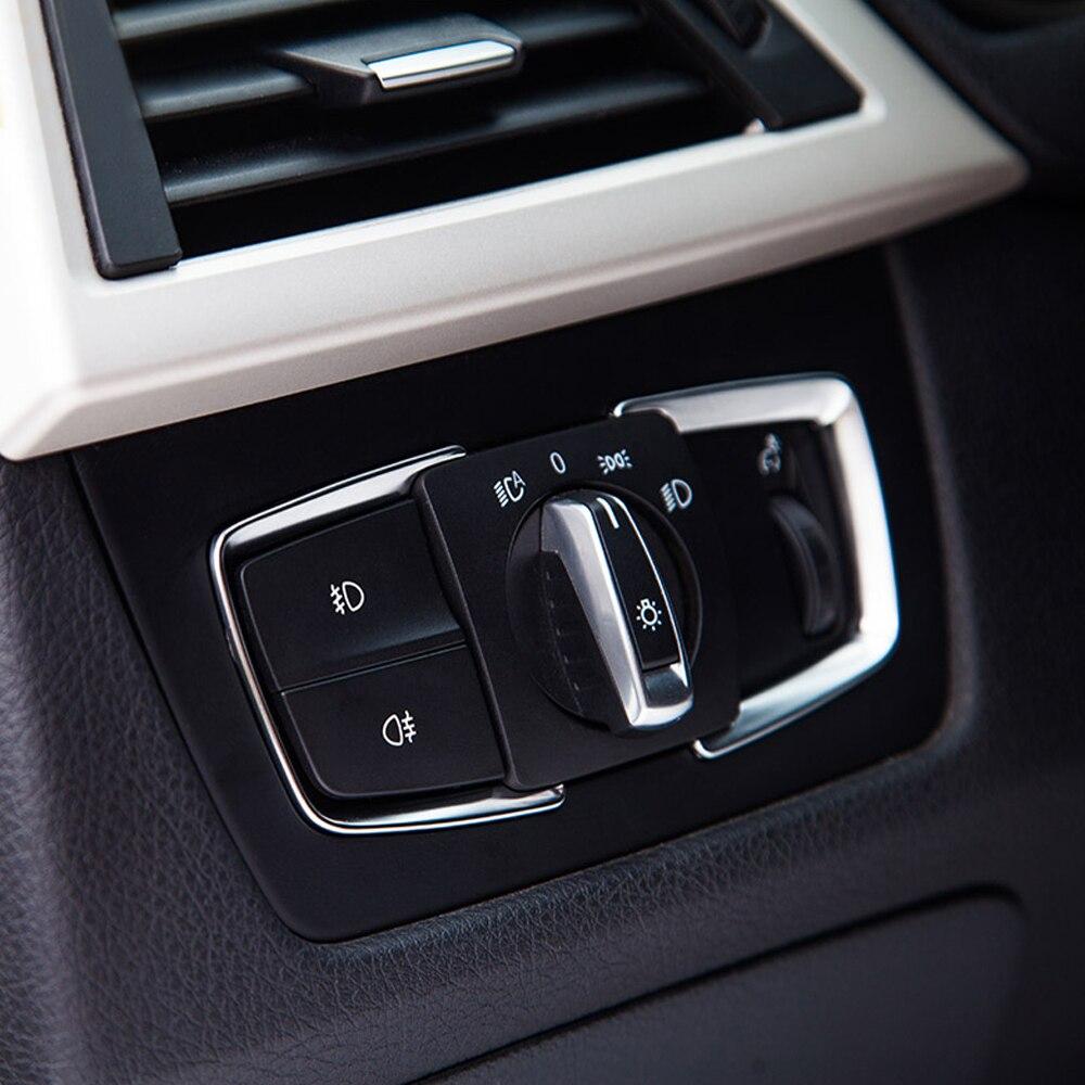 Car Pearl Chrome Trim Car Head Light Switch Frame Cover